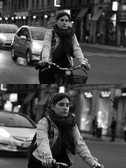 [La Mia Citt][Pedala] (Urca) Tags: milano italia 2016 bicicletta pedalare ciclista ritrattostradale portrait dittico bicycle bike biancoenero blackandwhite bn bw nikondigitale mir 889115