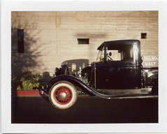 First Time Out (T-Terror) Tags: polaroid autumnpolaroidweek2016 day6 roidweek2016 roidweek polaroidweek instant color fujifp100c poloroidland350 landcamera vintage antique 1934ford pickup truck earlyford flathead v8