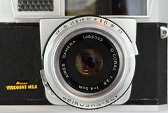Aires Viscount M2.8 on Display (10) (Hans Kerensky) Tags: aires viscount m28 display japanese 35mm rangefinder camera lens q coral 128 45cm shutter seikosha slv