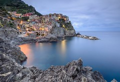 Manarola dawn 1 (Etardo64) Tags: 5terre manarola sea rocks dawn ncg ngc nisi nd1000 longexp longexposure