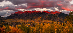 San Juan Mountains Fall Sunset (Steadfast Christian) Tags: sanjuanmountains needlemountains colorado fall aspen sunset weather nature creation god christian fallcolors alpenglow landscapephotography