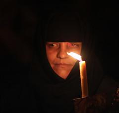 It's always the light (ybiberman) Tags: israel jerusalem oldcity alquds christianquarter churchoftheholysepulchre russian nun portrait veil candle candid streetphotography procession theotokos virginmary