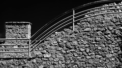 Curves On The Rocks (Alfred Grupstra Photography (bussy until 30 octobe) Tags: bw blackandwhite curves lines stones ohrid macedonivjrm mk