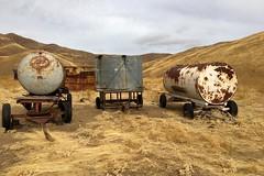 Water storage tanks (openspacer) Tags: farmmachinery tank