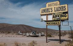 Angel's Ladies Brothel (egbphoto) Tags: roadsideamerica brothel airplane fuji xe2