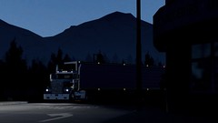 W900 departing after a just-in-time delivery (atsworld) Tags: kenworth w900 american truck simulator ats