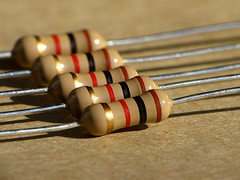 Resistors (thatSandygirl) Tags: electronic electric resistor ohm wire lines tan beige black red gold
