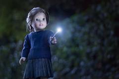 Lumos! (5hens) Tags: americangirl ameriacn girl american hermione harry potter lumos fantastic beasts where find them wand witchcraft wizardry hogwarts 5hensandahowardbird 5hensandacockatiel 5hens