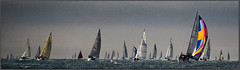 Summer Sail Panorama (rogermccallum) Tags: sail sailing panorama roundtheisland solent isleofwight spinnaker boat boating