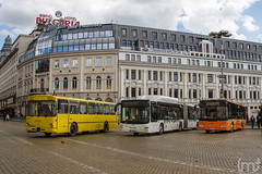 Downtown Trio (feverpictures) Tags: mercedes benz yutong man lions city sofia capital bulgaria
