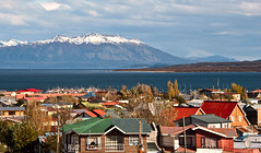 Puerto Natales (Voyages Lambert) Tags: lasthopesound latinamerica residentialbuilding puertonatales landscaped snowcapped volcaniclandscape dusk antarctica scenics woodmaterial old nature outdoors patagoniachile chile southamerica day fjord volcano mountainpeak andes mountainrange mountain landscape torresdelpainenationalpark sky lake glacier snow water dormantvolcano pier harbor city town architectureandbuildings straitofmagellan