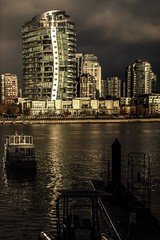 Granville Island (Photo Alan) Tags: building vancoucer canada landscape water boat seabus reflection cloud architecture urban city cityscape winter dock light lights outdoor night skyline waterfront river ocean sea