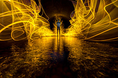 Stocking fillers (AndWhyNot) Tags: lightpainting mydogsighs tshirt tunnel waterdrops 652