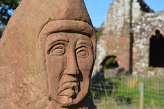 The Blue Monk (jonathan_horne) Tags: furness abbey statue barrowinfurness