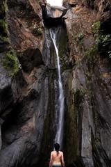 Listen (Fausto Loustalet) Tags: canchaque peru water waterfall human