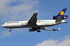 """D-ALCC   McDonnell Douglas MD-11F   Lufthansa Cargo (""""Aktion Deutschland Hilft"""" titles) (cv880m) Tags: bündnisdeutscherhilfsorganisationen newyork kennedy jfk kjfk aircargo freighter dalcc mcdonnell douglas boeing md11 m11 md11f m1f lufthansa lufthansacargo aktiondeutschlandhilft trijet charity"""