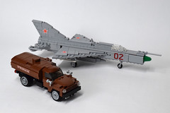 ZIL-130 Fuel Truck (4) (Dornbi) Tags: lego zil truck zil130 fuel ground vehicle soviet mig21pf mig21 fishbed