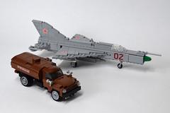 ZIL-130 Fuel Truck (4) (Dornbi) Tags: lego zil truck zil130 fuel ground vehicle soviet mig21pf mig21 fishbed