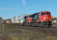 CN 3033 East, CN Q148 (Joseph Bishop) Tags: cn 3033 ge et44ac gevo tier4 trains train track tracks railfan railroad railway rail rails cndundassubdivision brantford