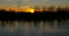 A cold evening's glow (candiceshenefelt) Tags: river water sunset glow tranquil