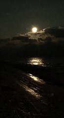 Moon over Lake Erie, North East PA - Orchard Beach (livinglakeerie) Tags: moon wateratnight darkwater northeastpa eriepa pennsylvania lakeerie moonatnight moonoverwater