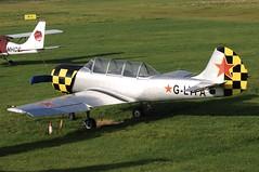 G-LYFA (LIAM J McMANUS - Manchester Airport Photostream) Tags: glyfa foxalphagroup intreprindereadeavioanebacau yakovlev yak yak52 yk52 cityairportmanchester barton egcb