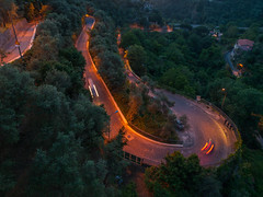Winding road (spylaw01) Tags: 2016 sorento car evening italy mountains naples night road winding