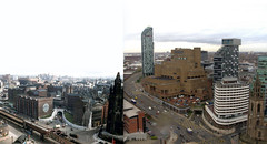 View from the Liver Building, 1950s and 2016 2 (Keithjones84) Tags: liverpool merseyside history localhistory thenandnow rephotography liverbuilding royalliverbuilding