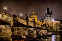 Karlsbrcke in Prag - The Charles Bridge in Prague (ralfkai41) Tags: nacht night nightshot brcke karlsbrcke nachtfotografie tschechischerepubilk moldau flus lights hdr river czechrepublic prag stadt charlesbridge bridge lichter city architecture gebude buildings prague