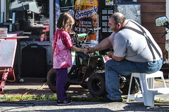 Helping Grandpa (Vegan Butterfly) Tags: dad father man person grandpa grandfather outside outdoor work working quad fix fixing family together helping help child kid grandchild cute adorable