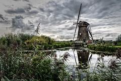 Kinderdijk (JanJungerius) Tags: holland netherlands kinderdijk molen mhle windmill water wasser weerspiegeling reflection spiegelung wolken clouds nikond750 tamronsp2470mmf28