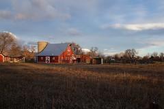 Morning Colors (Let Ideas Compete) Tags: barn farm rural bucolic rustic redbarn silo
