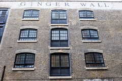 Ginger Wall (Douguerreotype) Tags: uk gb britain british england london architecture buildings window sign dock brick historic