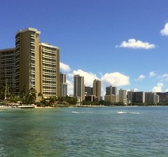 Waikiki, Honolulu, Hawaii (2) (tompa2) Tags: waikiki honolulu hawaii hav vatten höghus hotell