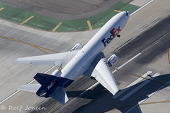 N375FE McDonell Douglas MD-10-10F Los Angeles airport KLAX 08.11-16 (rjonsen) Tags: plane airplane aircraft takeoff liftoff trijet air