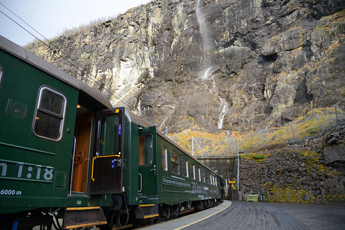 Flåmsbana - The Flam Railway, one of the steepest trainlines in the world through fantastic nature, steep mountains, waterfalls, and through 20 tunnels._