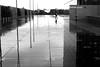 By crossing the mirror (pascalcolin1) Tags: paris13 bnf miroir mirror pluie rain reflets reflection homme man photoderue streetview urbanarte noiretblanc blackandwhite photopascalcolin