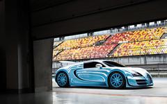 Ting & Tiger. (Alex Penfold) Tags: bugatti veyron supersport super sport ting tiger blue white supercars supercar car cars autos alex penfold 2016 shanghai international circuit china