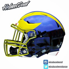 Uh oh. Look who got chromed out. @umichfootball #michigan #wolverines #umich #goblue #annarbor #michiganfootball #myumich #helmet #chrome #ncaa #nfl #nike #design #concept (helmetsoulman) Tags: uh oh look who got chromed out umichfootball michigan wolverines umich goblue annarbor michiganfootball myumich helmet chrome ncaa nfl nike design concept