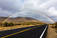 Another Perspective of the Awesome Rainbow Over Highway 78 (slworking2) Tags: julian california unitedstates us hwy hwy78 highway rainbow clouds sky weather sandiego anzaborrego anzaborregodesertstatepark