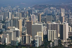 Honolulu Cityscape (DaveFlker) Tags: honolulu diamond head hawaii oahu skyline cityscape buildings