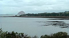 Morro Bay with Morro Rock in the distance (Seleusleaf) Tags: fog rippled water