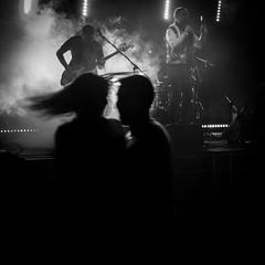 Lets dance (G. For._active again) Tags: gig performance rock danc dancer dancers girl power dynamic monochrome bw blur hair
