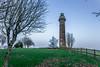 Spire of Lloyd (Ronan McCormick) Tags: ilobsterit 2016 landscape winter bluemoment canon commons dusk hill ireland kells light lighthouse lloyd loyd meath night park peoples pillar red spire tower christmas