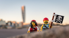 The Pirates are coming... in Malmö (alternate) (Reiterlied) Tags: 18 35mm d500 dslr lego legography lens malmö minifig minifigure nikon photography pirate prime reiterlied stuckinplastic sweden toy