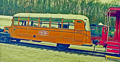 Railbus No. 206, Museum of Transportation, St. Louis (1 of 2) (gg1electrice60) Tags: stlouis kirkwood stlouiscounty missouri mo museumoftransportation 3015barrettstationroad nearbarberrylaneexitofi270 barrettstationrd webstergroves interstate270 i270 bigbendroad illinoisterminalrailroadcompany illinoisterminalrrco railbus number206 no206 206 track caboose