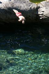 Jumping into the verzasca (u_sperling) Tags: green water schweiz switzerland tessin ticino jump verzasca