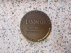 "Landmark Preservation Commission plaque • <a style=""font-size:0.8em;"" href=""http://www.flickr.com/photos/34843984@N07/14924156573/"" target=""_blank"">View on Flickr</a>"
