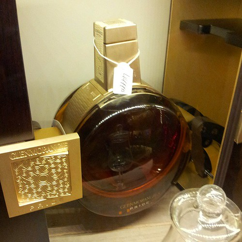 25 Year old Glenmorangie Highland Single Malt Scotch Whisky. €4488.95. What am I doing in this store?!