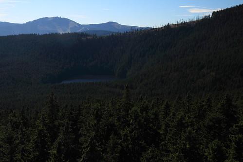 Čertovo jezero z rozhledny
